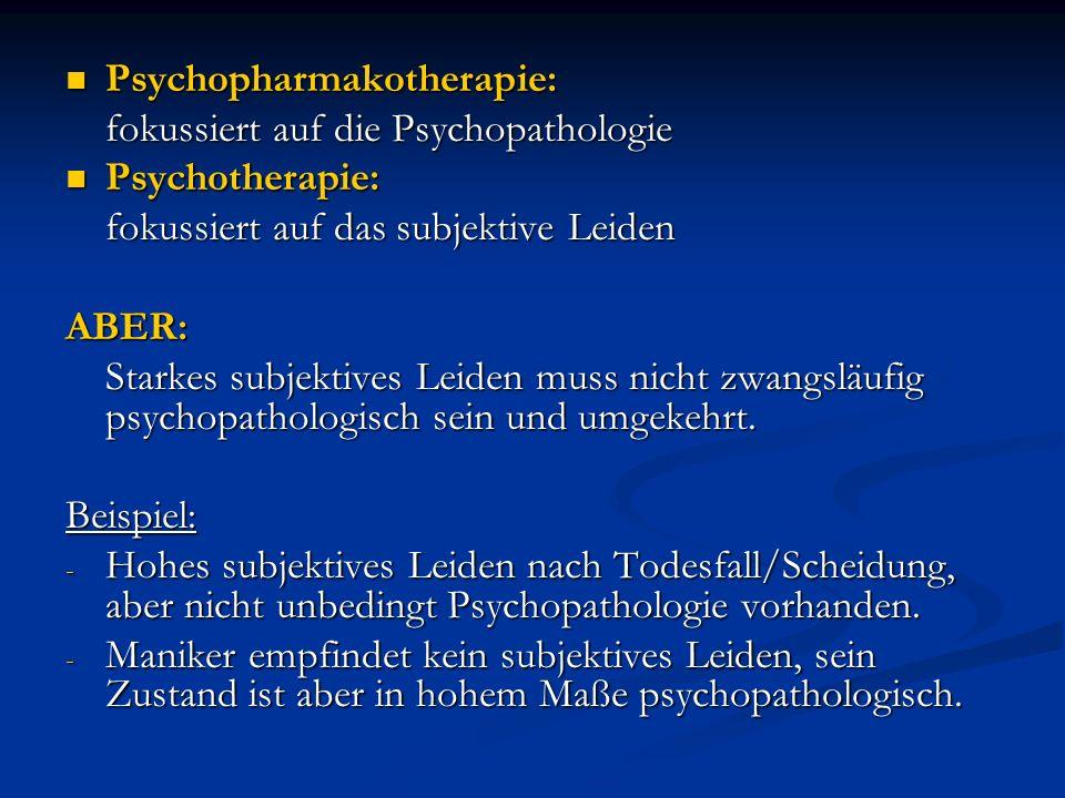 Psychopharmakotherapie: