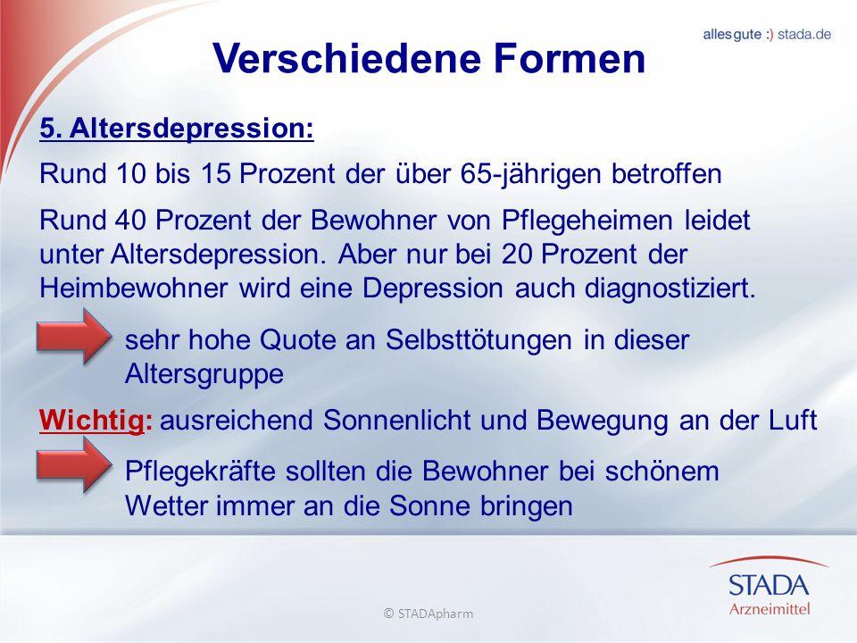 Verschiedene Formen 5. Altersdepression: