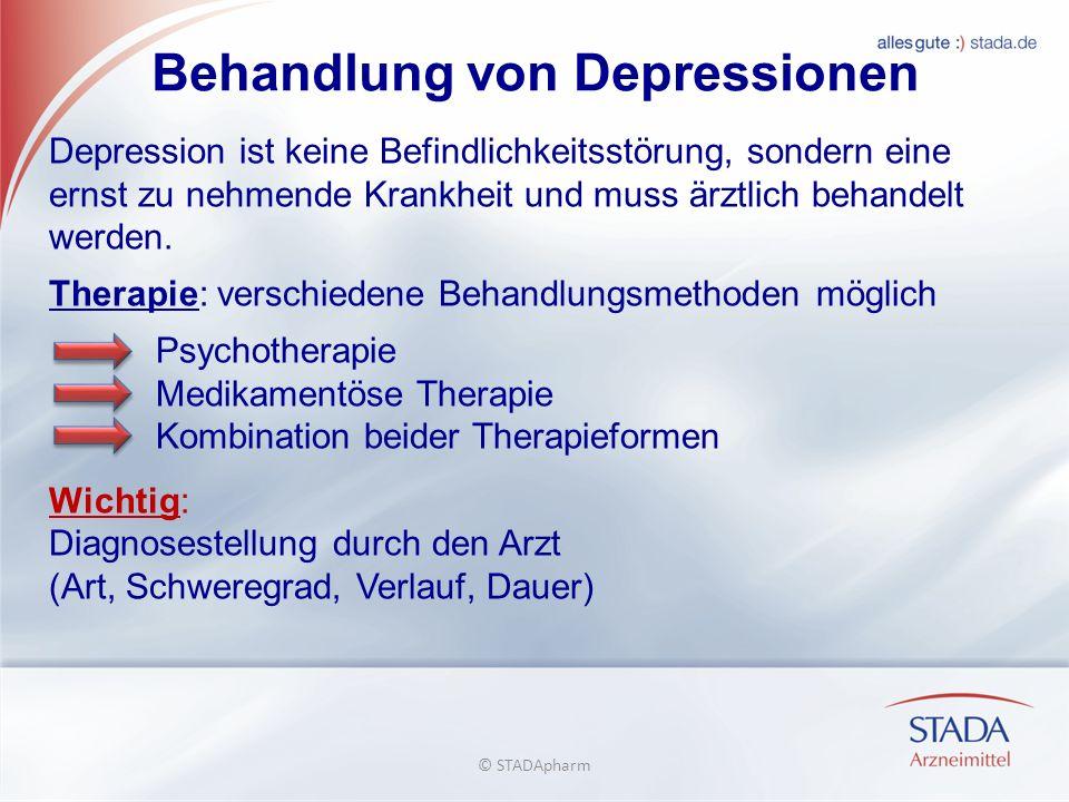 Behandlung von Depressionen