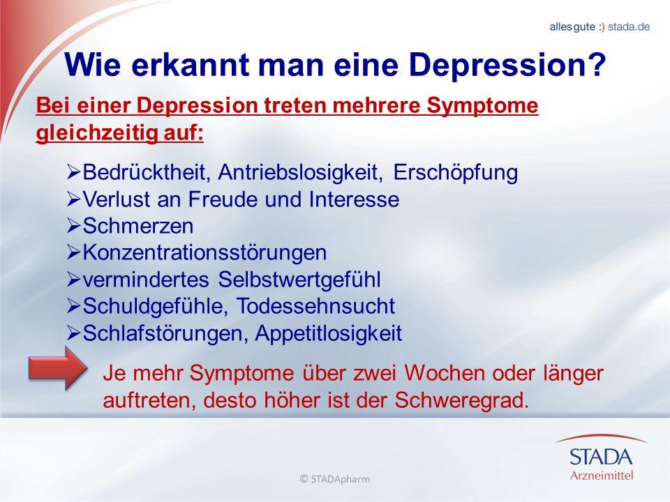 Wie erkannt man eine Depression