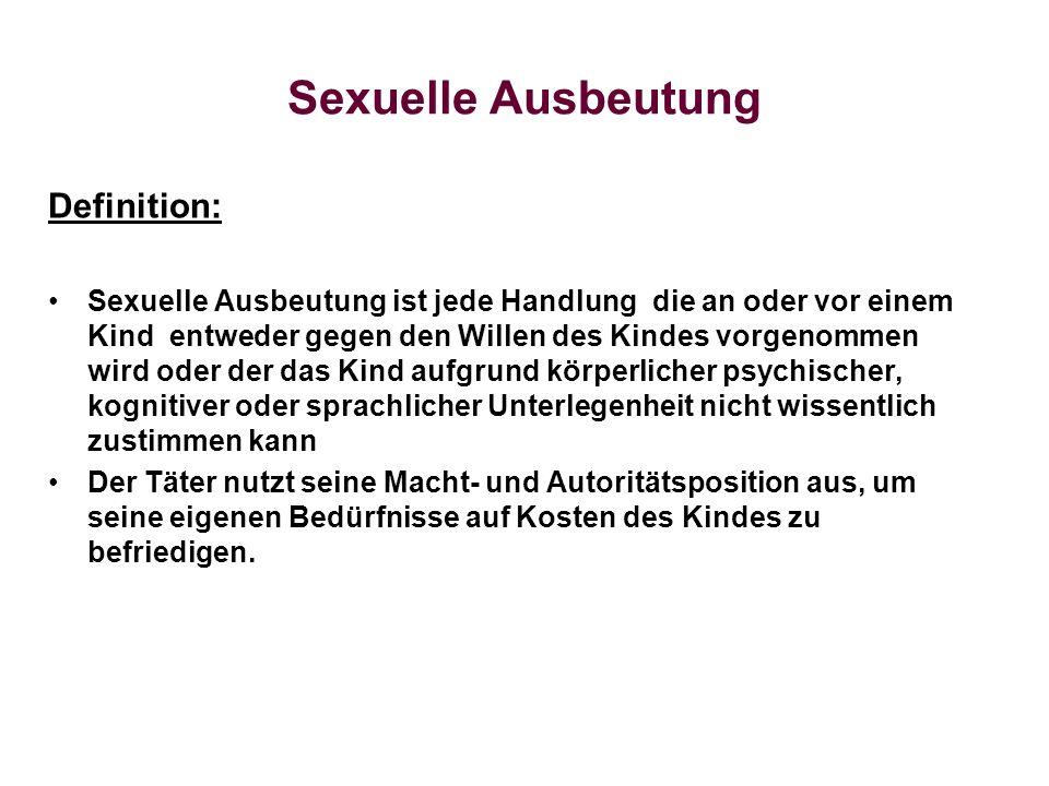 Sexuelle Ausbeutung Definition: