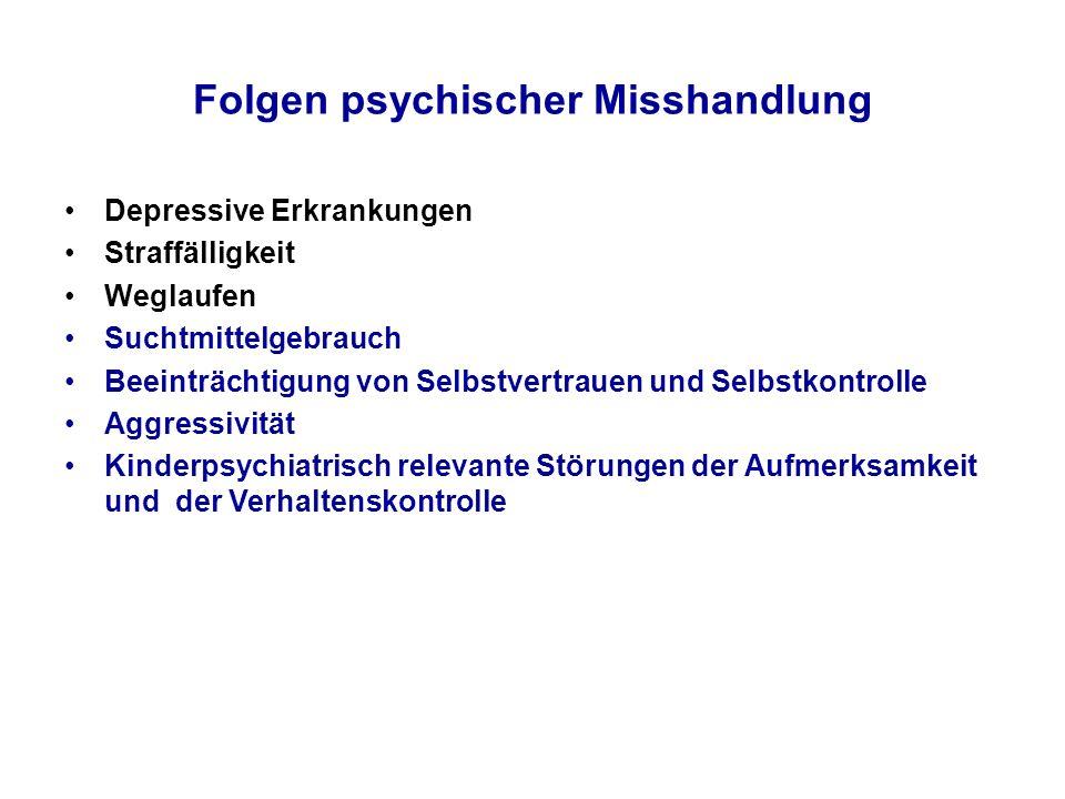 Folgen psychischer Misshandlung