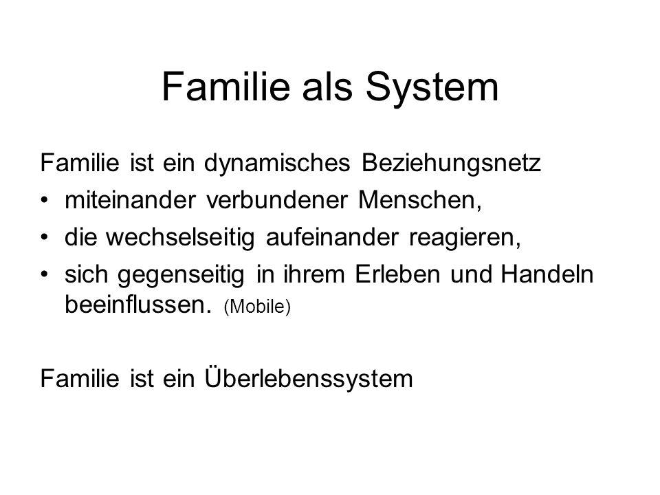 Familie als System Familie ist ein dynamisches Beziehungsnetz