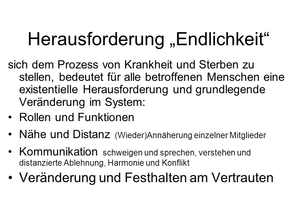 """Herausforderung """"Endlichkeit"""