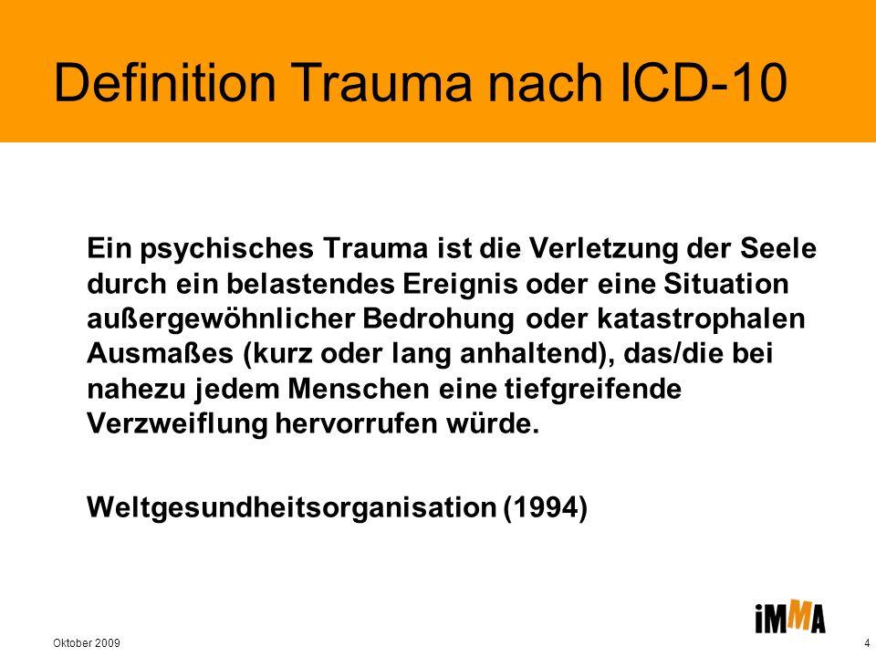 Definition Trauma nach ICD-10
