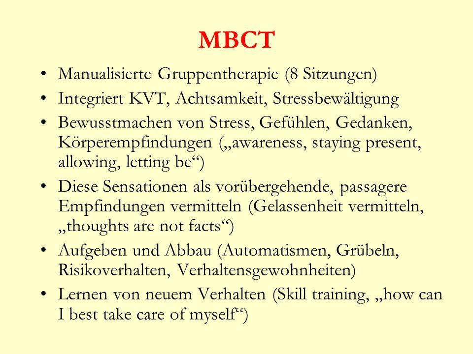 MBCT Manualisierte Gruppentherapie (8 Sitzungen)