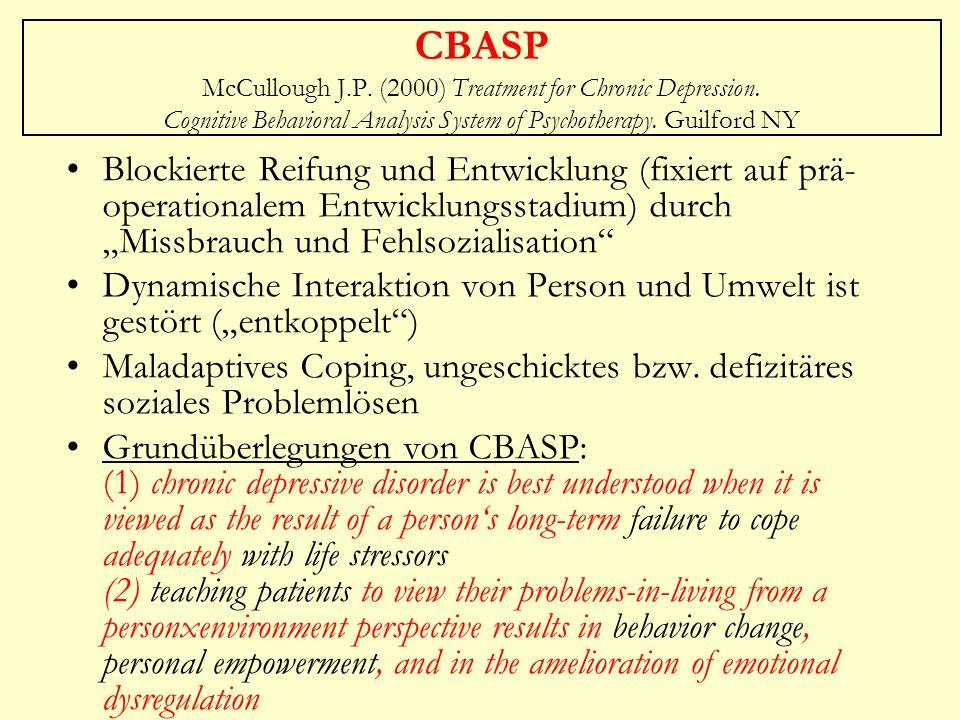 CBASP McCullough J. P. (2000) Treatment for Chronic Depression