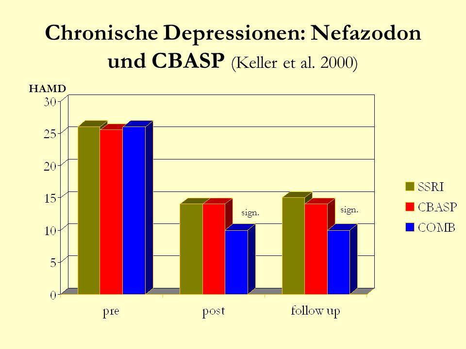 Chronische Depressionen: Nefazodon und CBASP (Keller et al. 2000)