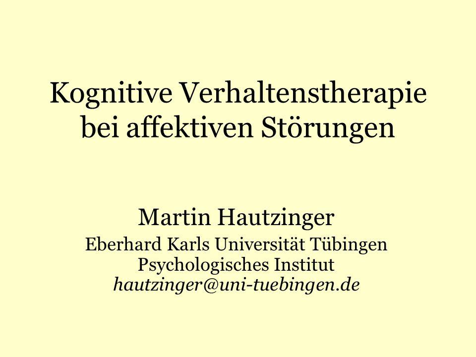 Kognitive Verhaltenstherapie bei affektiven Störungen