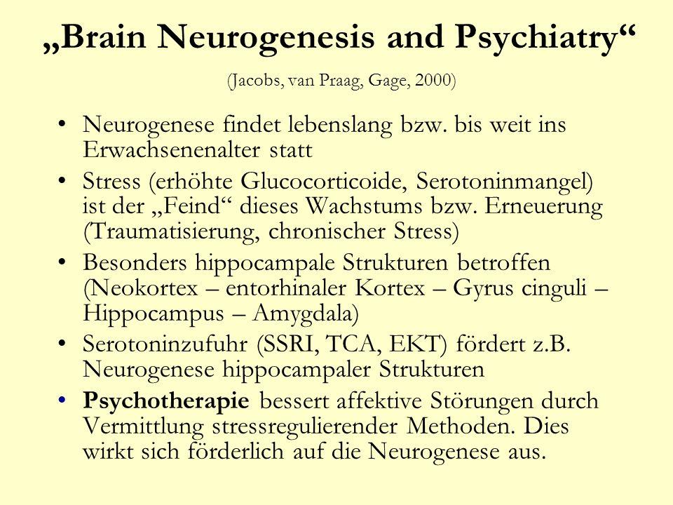 """""""Brain Neurogenesis and Psychiatry (Jacobs, van Praag, Gage, 2000)"""