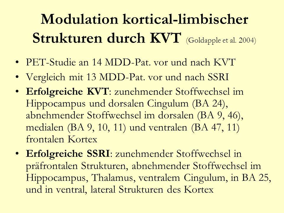 Modulation kortical-limbischer Strukturen durch KVT (Goldapple et al