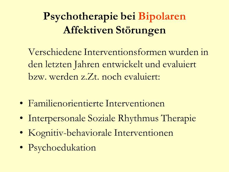 Psychotherapie bei Bipolaren Affektiven Störungen
