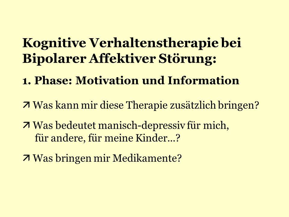 Kognitive Verhaltenstherapie bei Bipolarer Affektiver Störung: