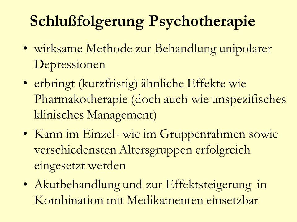 Schlußfolgerung Psychotherapie
