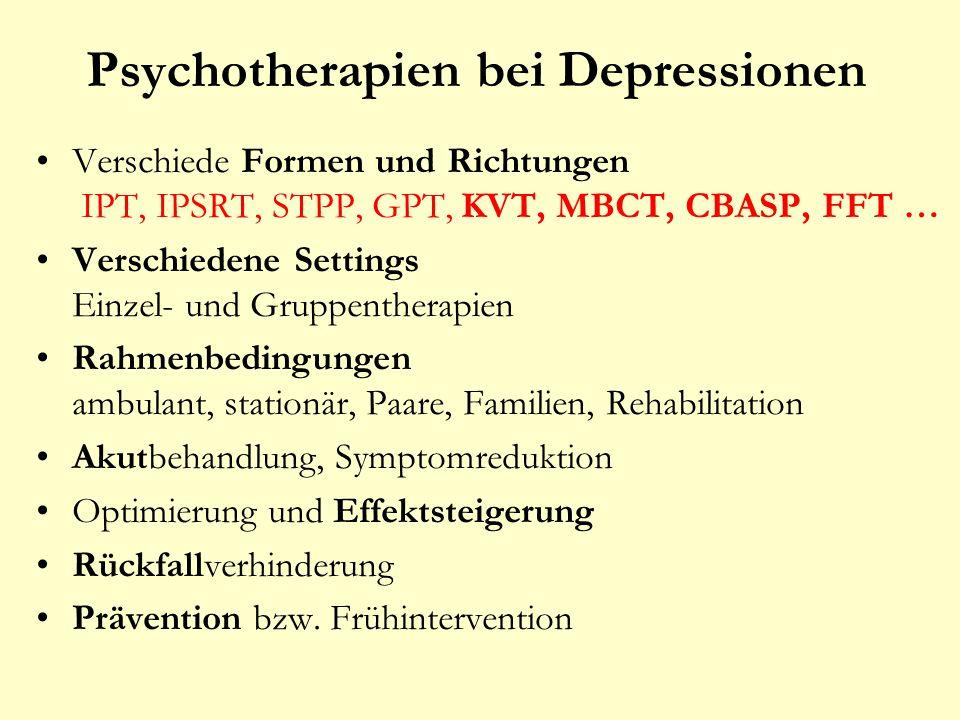 Psychotherapien bei Depressionen