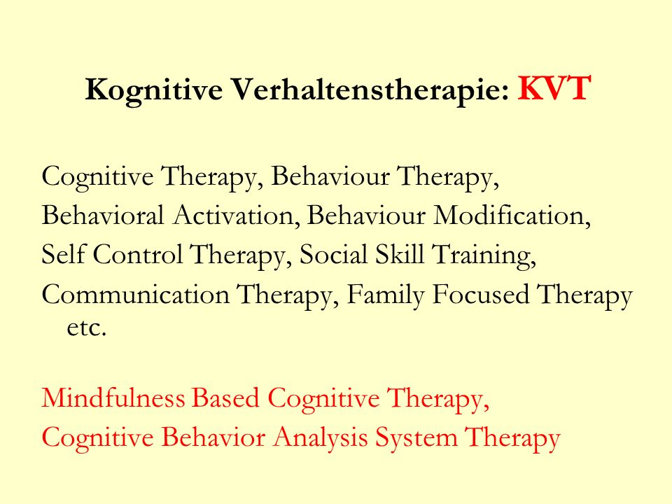 Kognitive Verhaltenstherapie: KVT