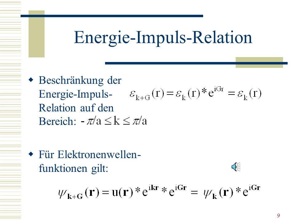 Energie-Impuls-Relation