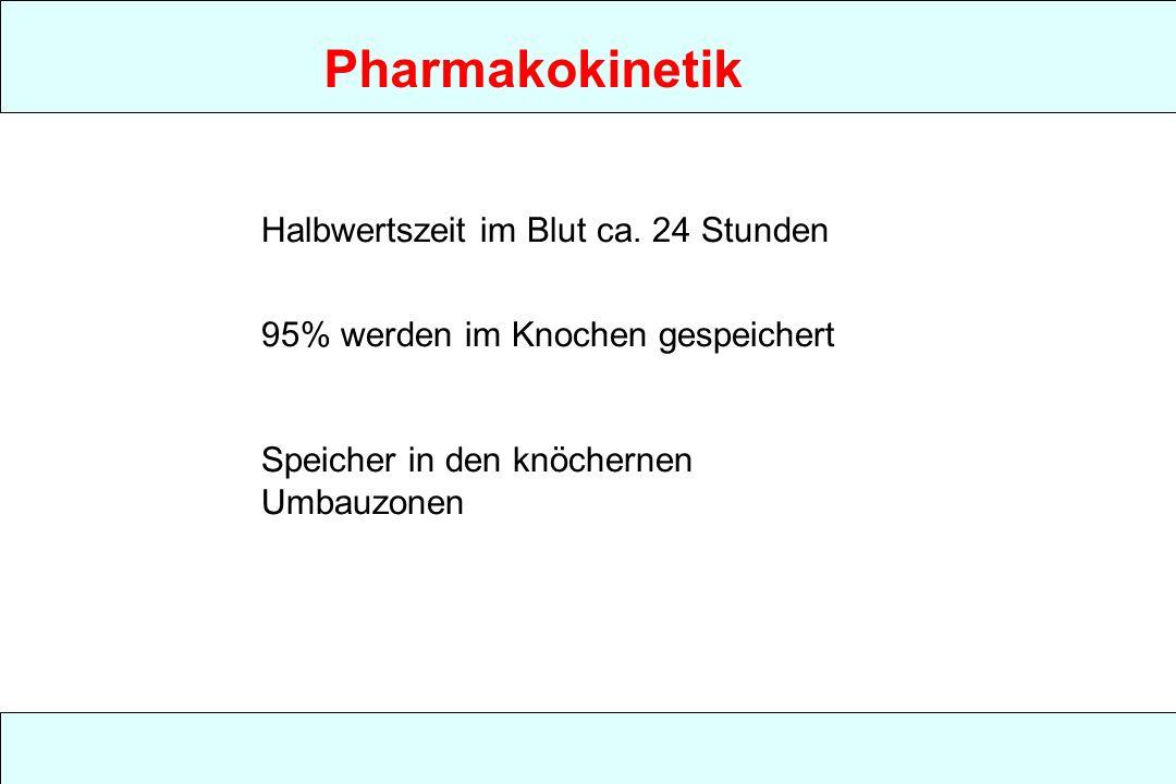 Pharmakokinetik Halbwertszeit im Blut ca. 24 Stunden