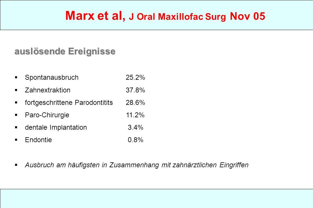 Marx et al, J Oral Maxillofac Surg Nov 05