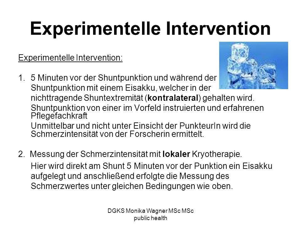 Experimentelle Intervention