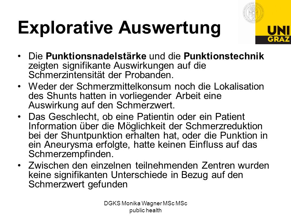 Explorative Auswertung