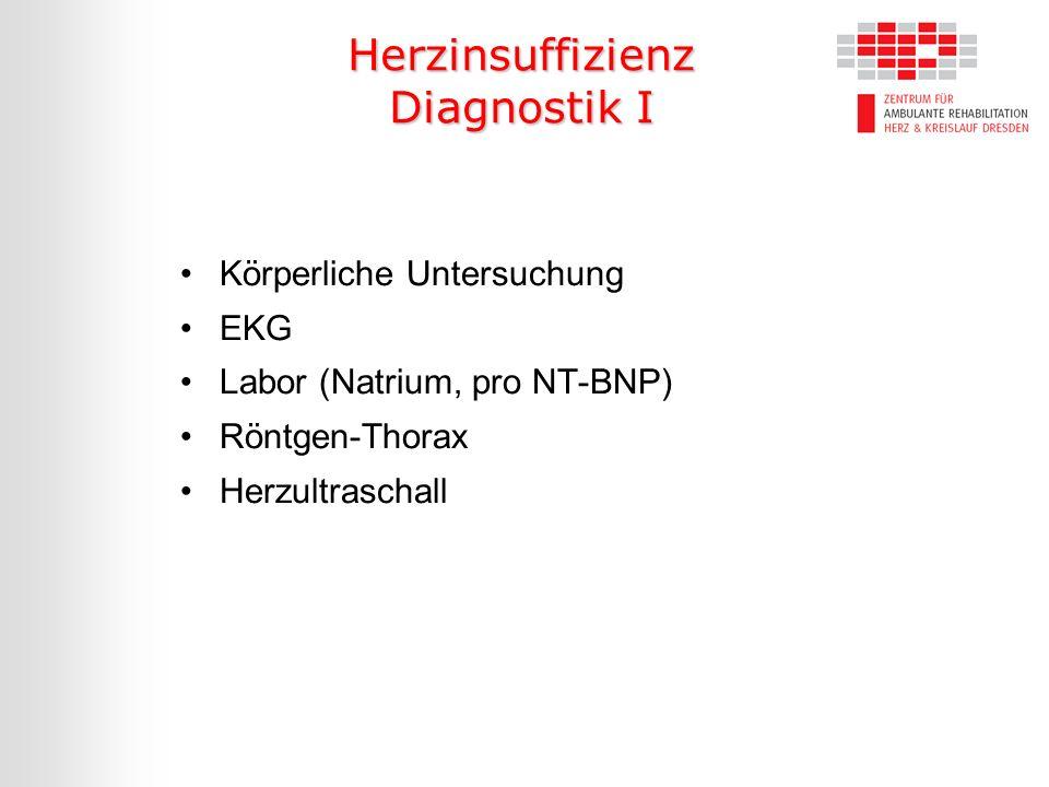 Herzinsuffizienz Diagnostik I