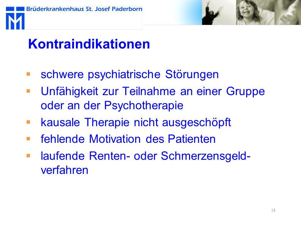 Kontraindikationen schwere psychiatrische Störungen