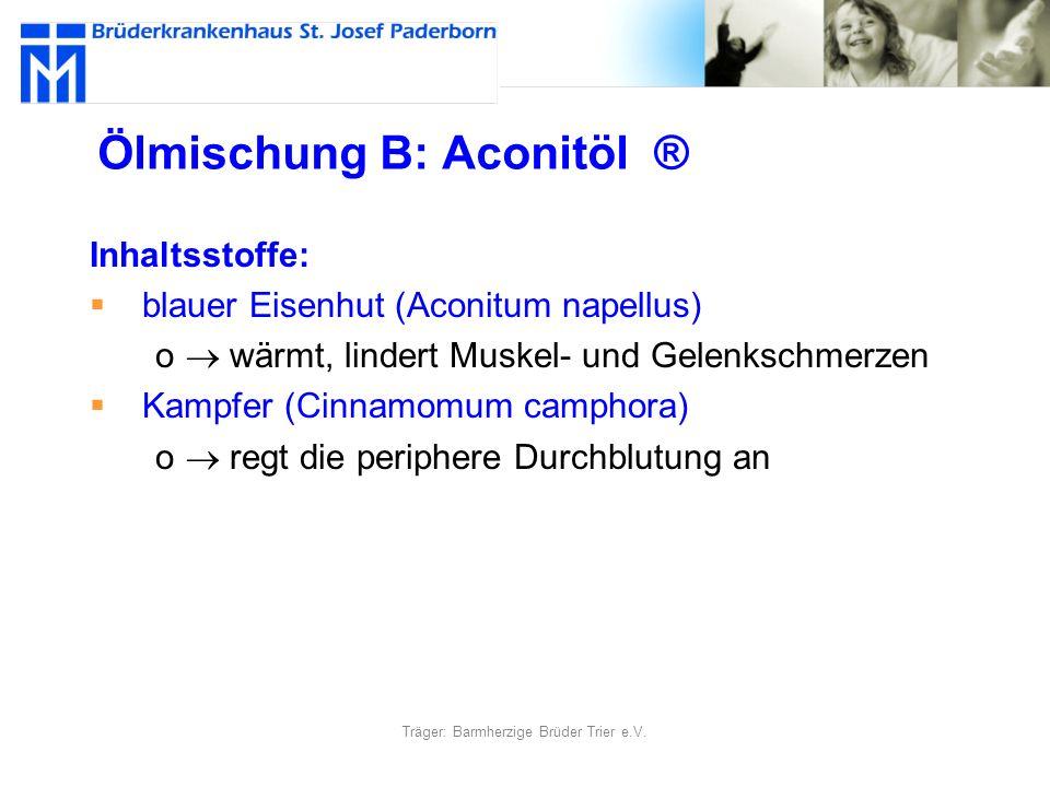 Ölmischung B: Aconitöl ®
