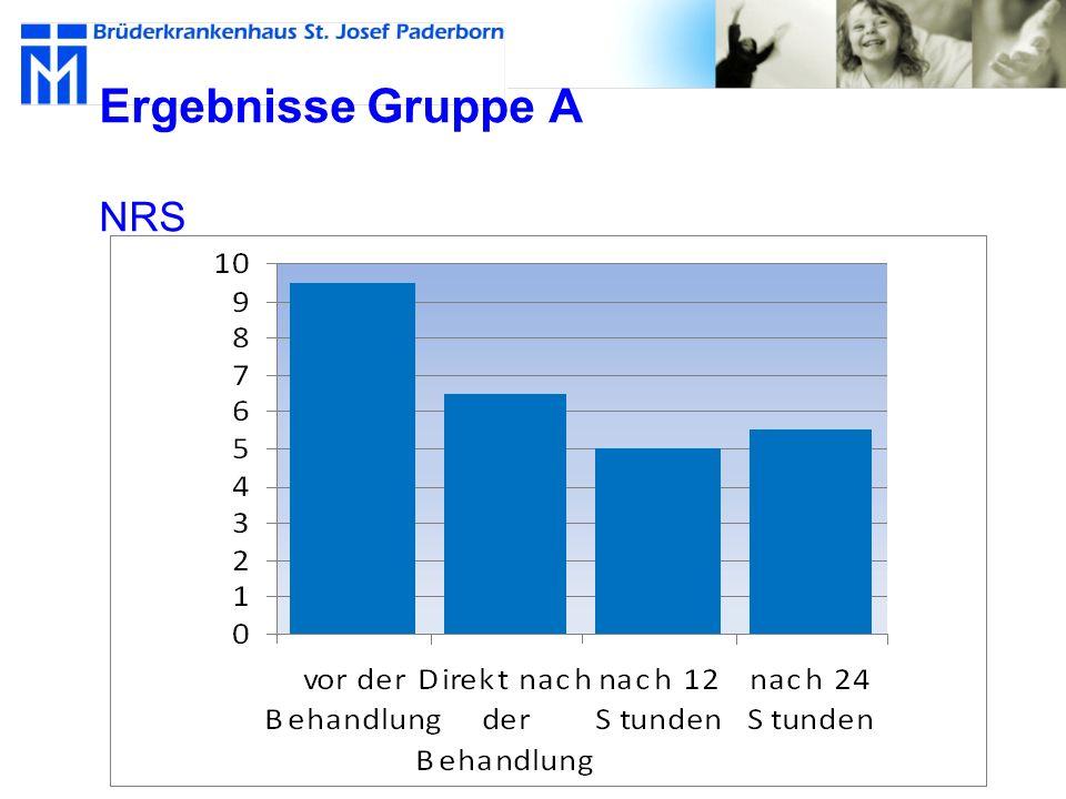 Ergebnisse Gruppe A NRS