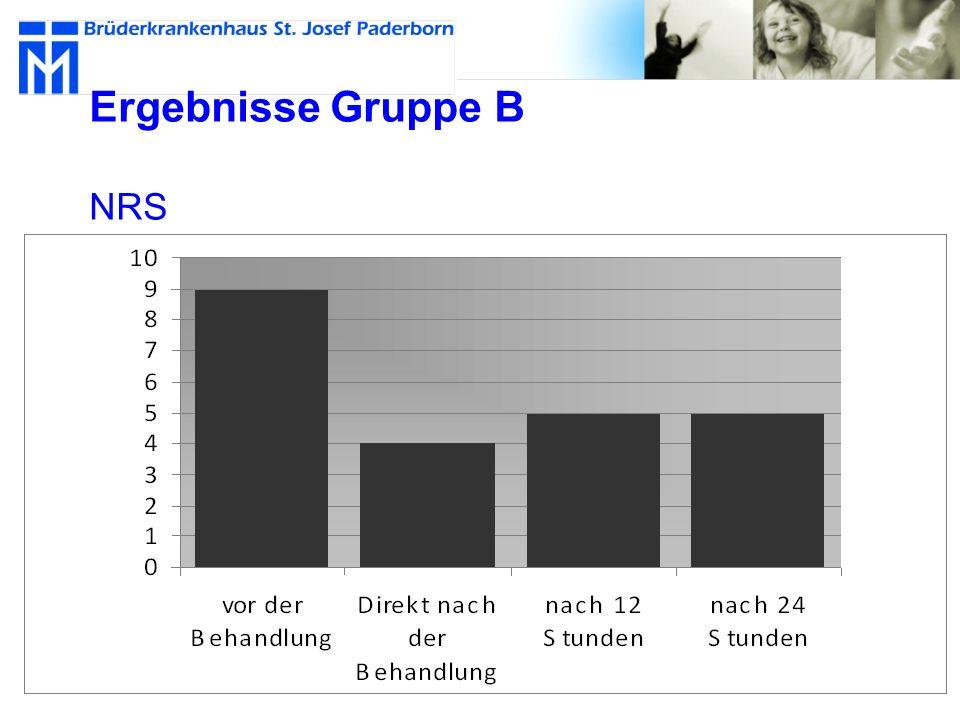 Ergebnisse Gruppe B NRS