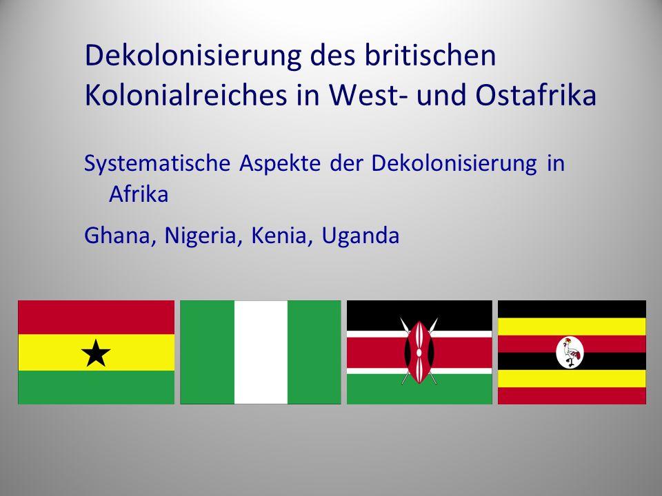 Dekolonisierung des britischen Kolonialreiches in West- und Ostafrika