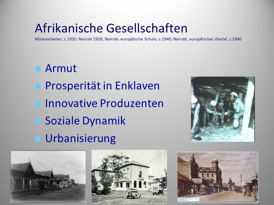 Afrikanische Gesellschaften Minenarbeiter, c