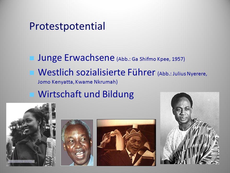 Protestpotential Junge Erwachsene (Abb.: Ga Shifmo Kpee, 1957)