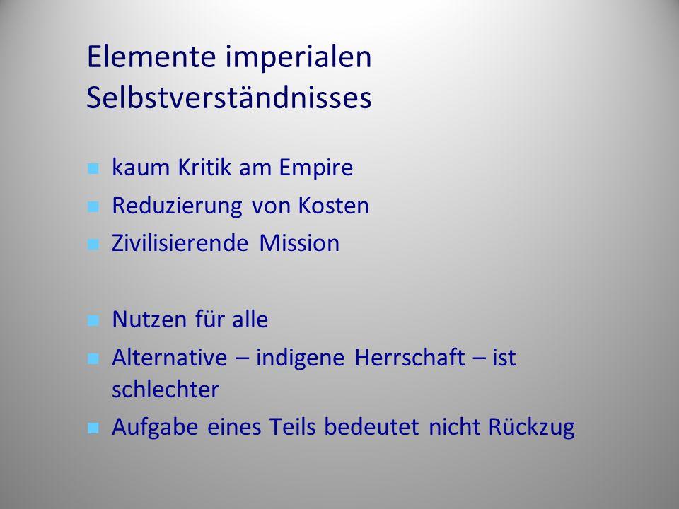 Elemente imperialen Selbstverständnisses