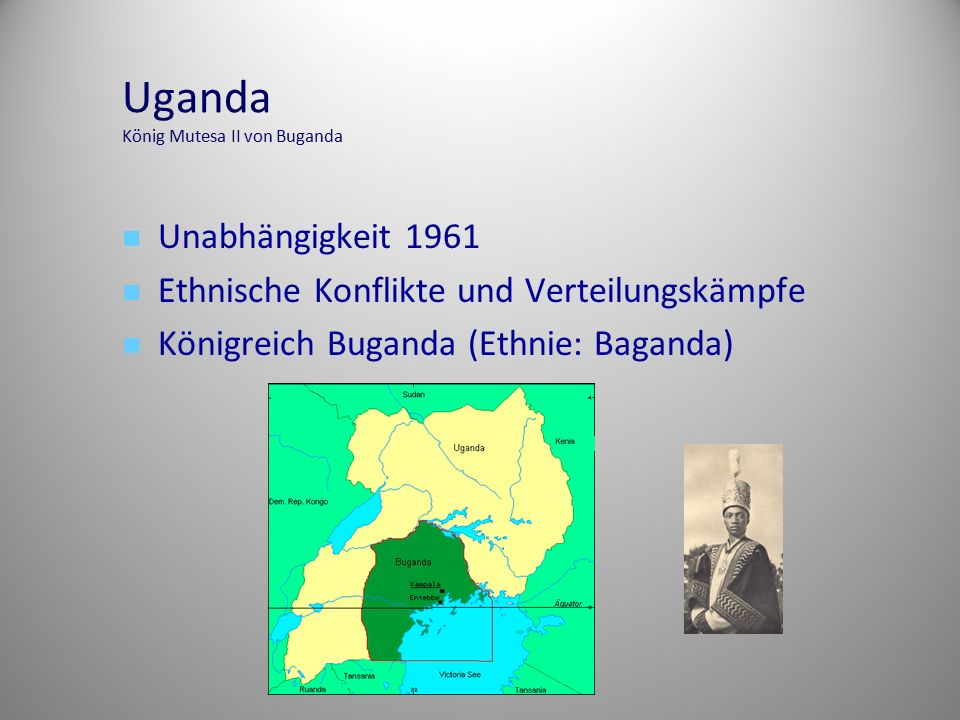 Uganda König Mutesa II von Buganda