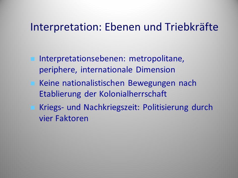 Interpretation: Ebenen und Triebkräfte