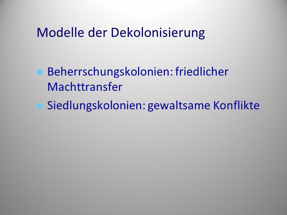 Modelle der Dekolonisierung