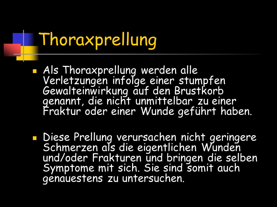 Thoraxprellung