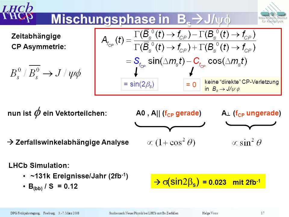 Mischungsphase in BsJ/yf