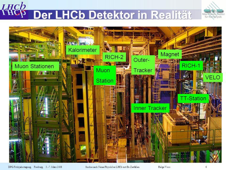 Der LHCb Detektor in Realität