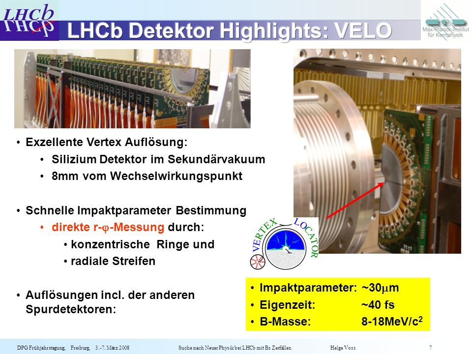 LHCb Detektor Highlights: VELO