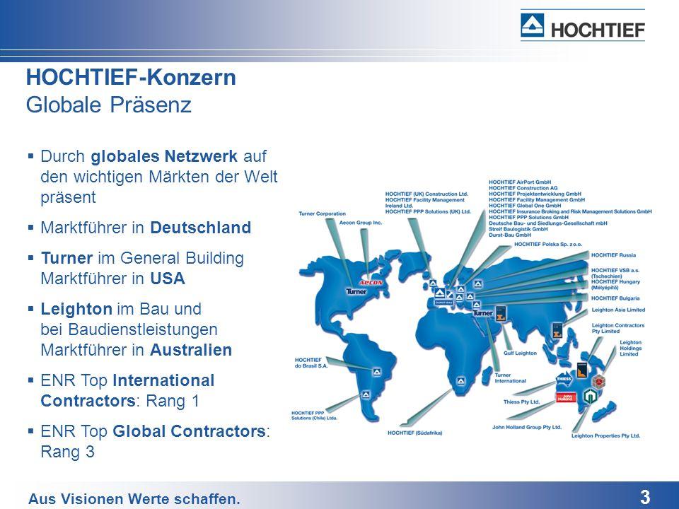 HOCHTIEF-Konzern Globale Präsenz