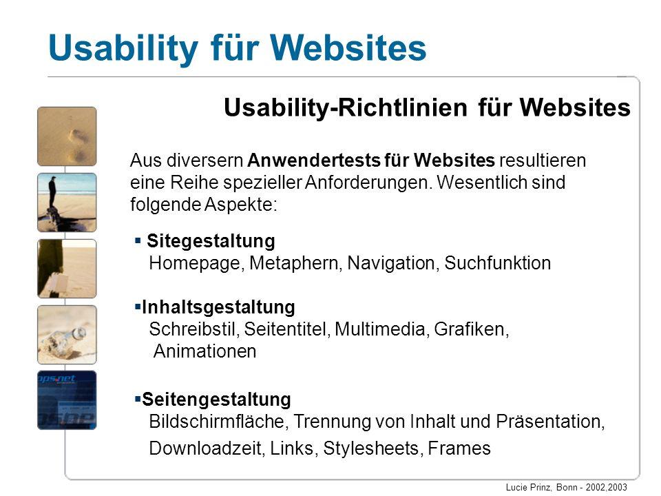 Usability-Richtlinien für Websites