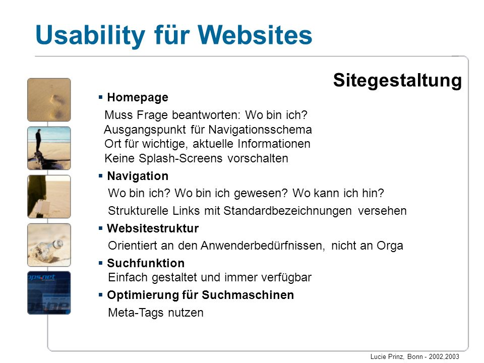 Sitegestaltung Homepage