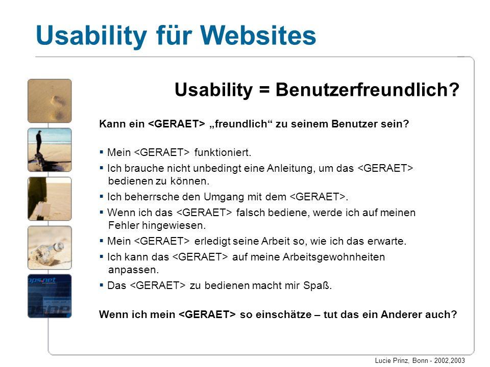 Usability = Benutzerfreundlich