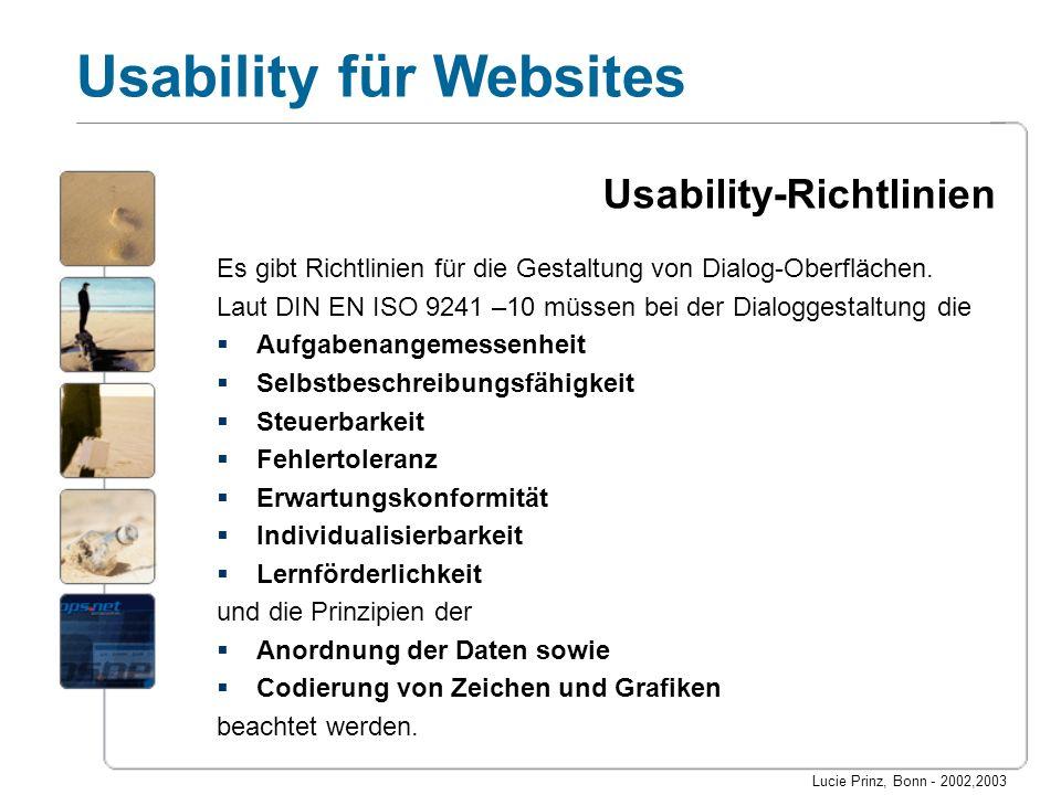 Usability-Richtlinien