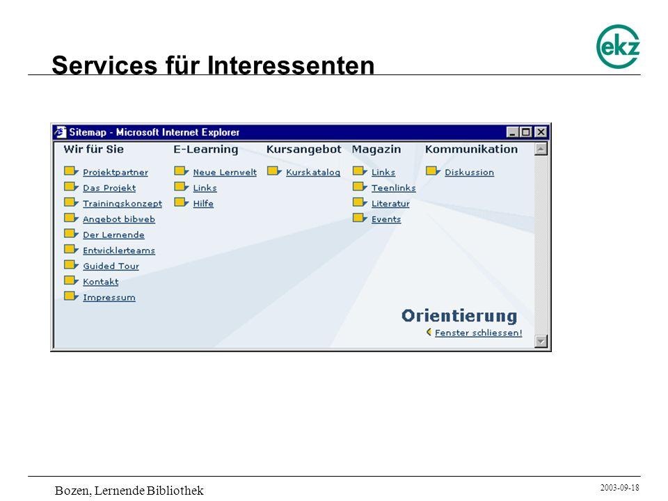 Services für Interessenten