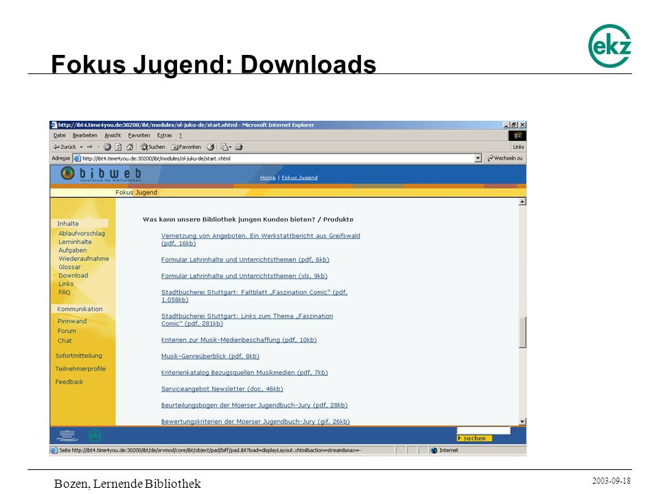 Fokus Jugend: Downloads