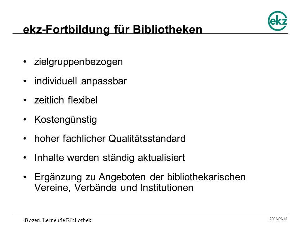 ekz-Fortbildung für Bibliotheken