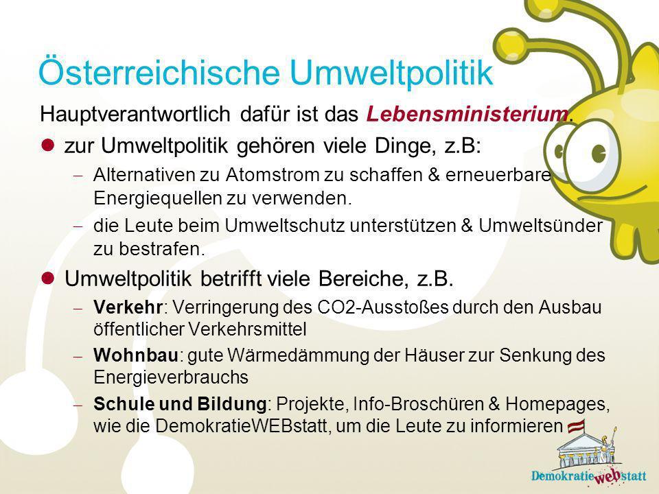 Österreichische Umweltpolitik